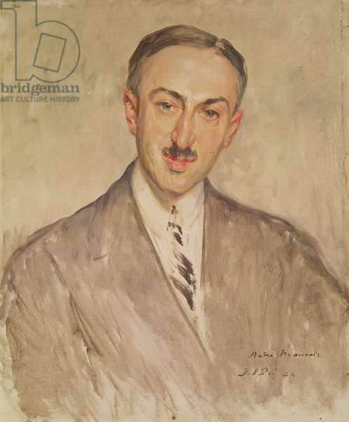Study for the Portrait of Andre Maurois (1885-1967) 1924 (oil on canvas)