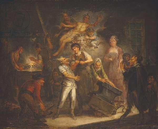 Fantastical Scene (oil on canvas)