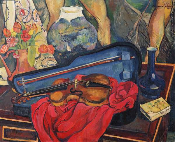 The Violin Case, 1923 (oil on canvas)