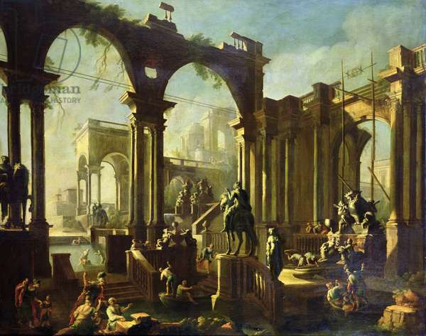 Ruins of the Baths of Caracalla (oil on canvas)