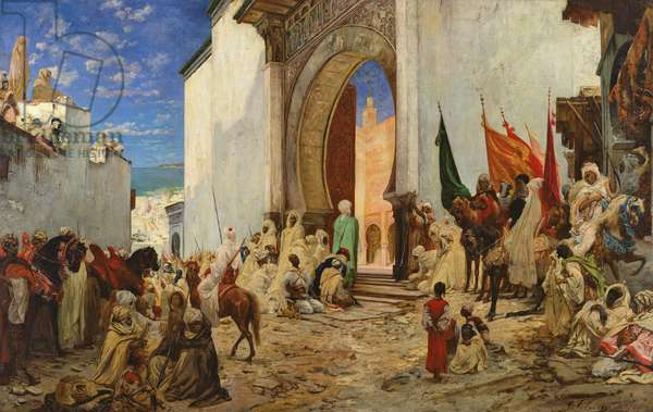 Entry of the Sharif of Ouezzane into the Mosque, 1876 (oil on canvas)