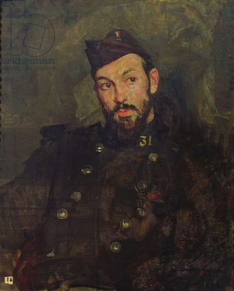 Felicien Cacan in Uniform, 1915 (oil on canvas)