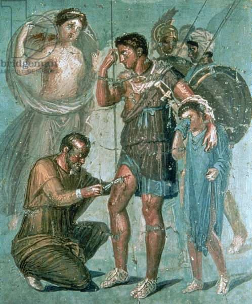 Aeneas injured, from Pompeii (fresco)