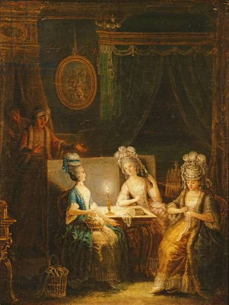Zémire and Azor, Opera by Marmontel, 1788 (oil on canvas)