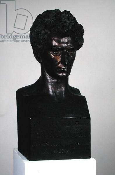 Bust of Armand Carrel (1800-36) (bronze)
