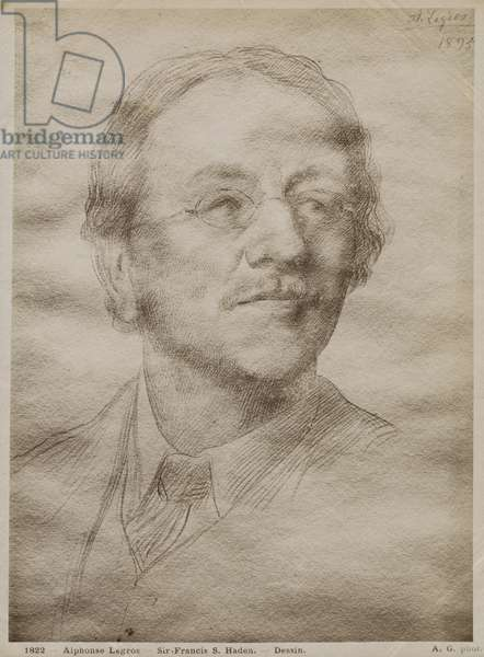 Sir Francis Seymour Haden Junior, 1895 (goldpoint on paper) (see also 414598)