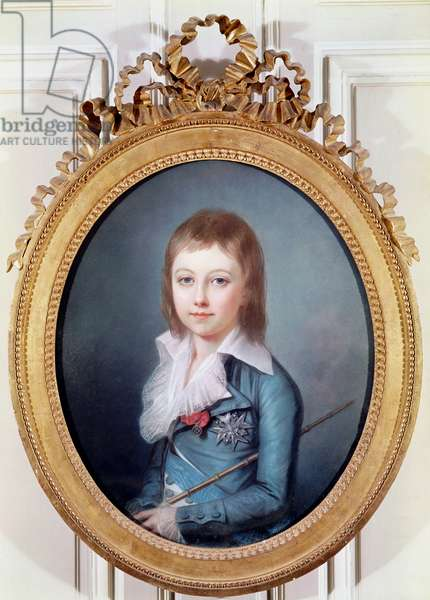 Medallion Portrait of Louis-Charles (1785-95) King Louis XVII of France (oil on canvas)