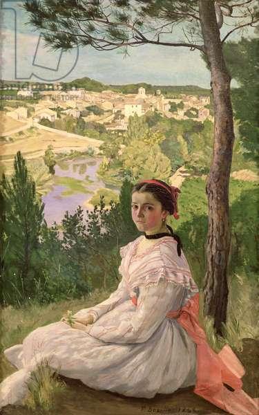 View of the village, Castelnau, 1868 (oil on canvas)