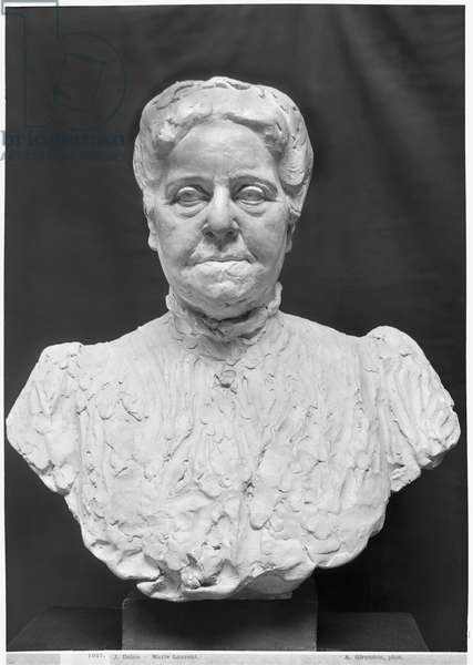 Bust of Madame Marie Laurent (terracotta) (b/w photo)