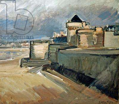 View of Saint-Malo, 1935 (oil on canvas)