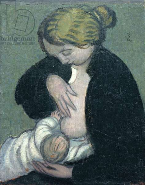 Mother in a Black Shirt, 1895 (oil on canvas)