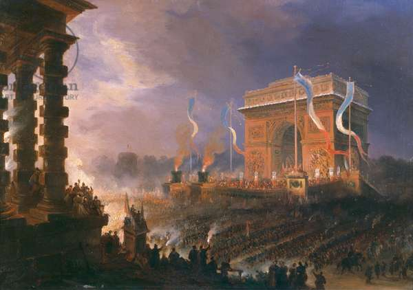Festival of the Fraternity of the Arc de Triomphe, 24th April 1848 (oil on canvas)