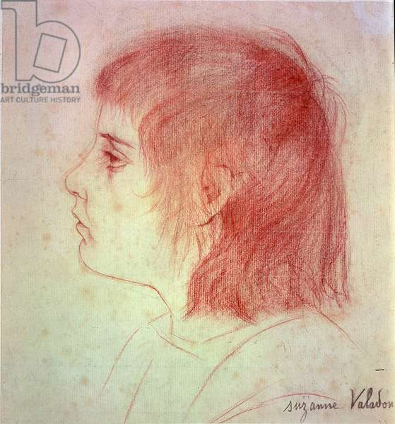 Portrait of Maurice Utrillo as a Child, c.1888-90 (red chalk on paper)
