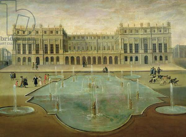 Chateau de Versailles from the Garden Side, before 1678 (oil on canvas)