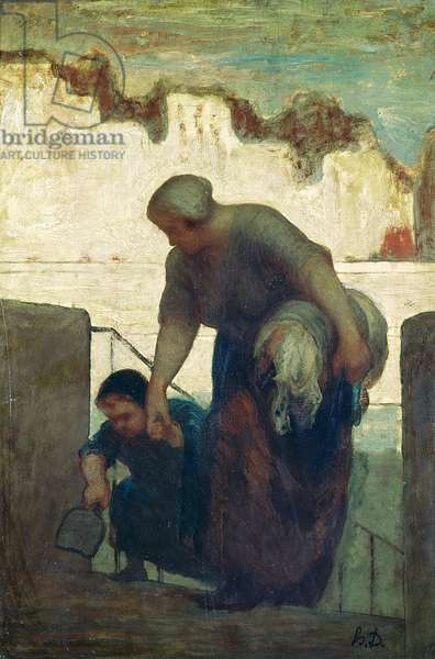 The Washerwoman, c.1860-61 (oil on canvas)