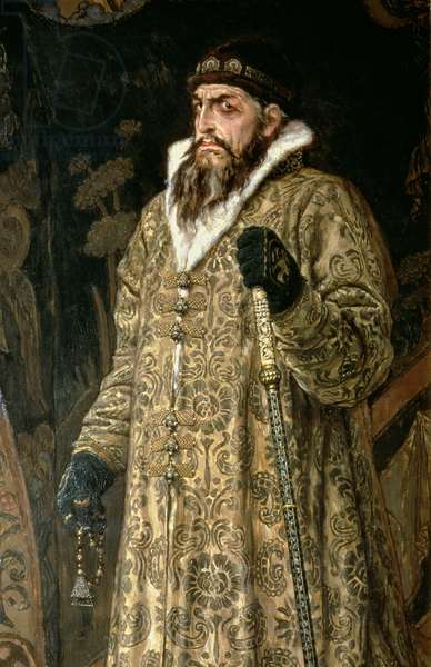 Tsar Ivan IV Vasilyevich 'the Terrible' (1530-84) 1897 (oil on canvas) (detail of 89327)