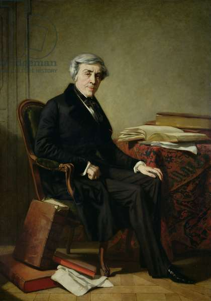 Portrait of Jules Michelet (1798-1874) (oil on canvas)