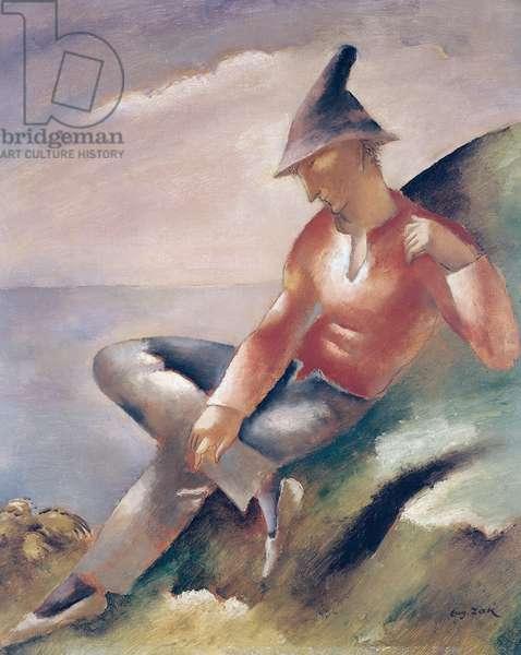 A Man (oil on canvas)