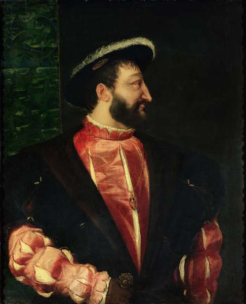 Portrait of Francis I (1494-1547) 1538 (oil on canvas)