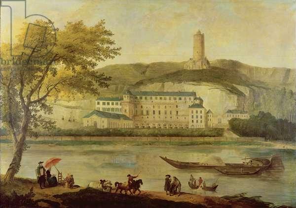 The Chateau de La Roche-Guyon (oil on canvas)