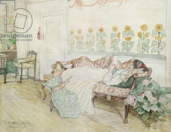 Interior, 1898 (w/c on paper)