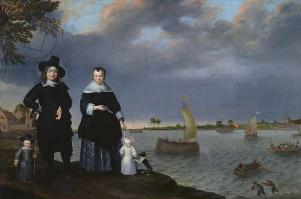 A Shipowner and his Family, 1650 (oil on canvas)