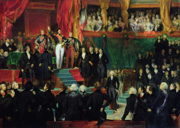 Louis-Philippe (1773-1850) is sworn in as king before the Chamber of Deputies, 9th August 1830 (oil on canvas)