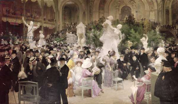 Friday at the French Artists' Salon, 1911 (oil on canvas)