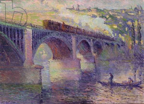 The Bridge at Sunset, 1905 (oil on canvas)