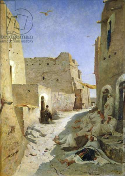 The Bab-El-Gharbi Road, Laghouat, 1859 (oil on canvas)
