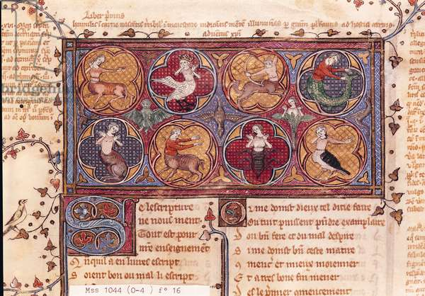 Ms 1044 f.16 Metamorphoses, from Ovid Moralise written by Chretien Legouais (vellum)