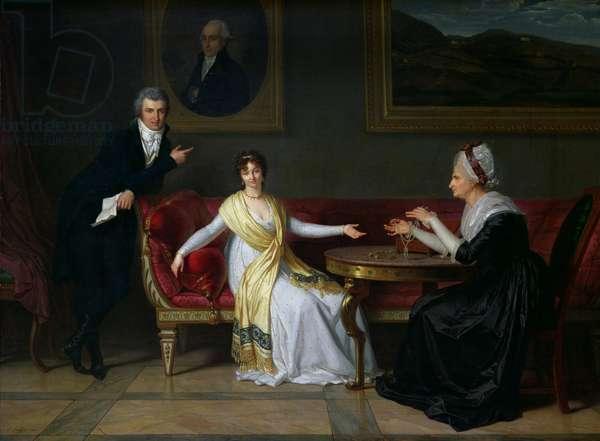 The Salucci family, 1800 (oil on canvas)