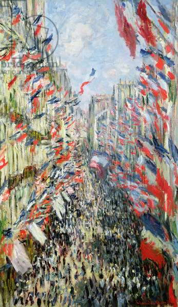 The Rue Montorgueil, Paris, Celebration of June 30, 1878 (oil on canvas)