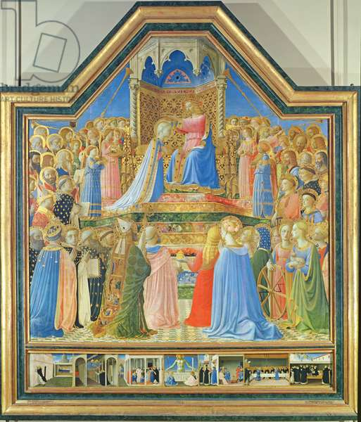 Coronation of the Virgin, c.1430-32 (tempera on panel) (for detail see 93858)