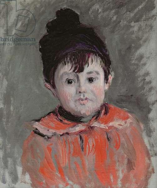 Michel Monet (1878-1966) Wearing a Bobble Hat, 1880 (oil on canvas)