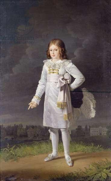 Frederic-Napoleon (1815-33) Prince Bacciochi, 1819 (oil on canvas)