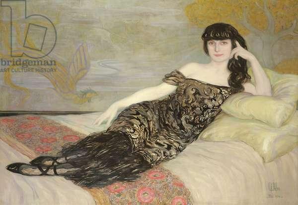 Anna de Noailles (1876-1933), 1914 (oil on canvas)