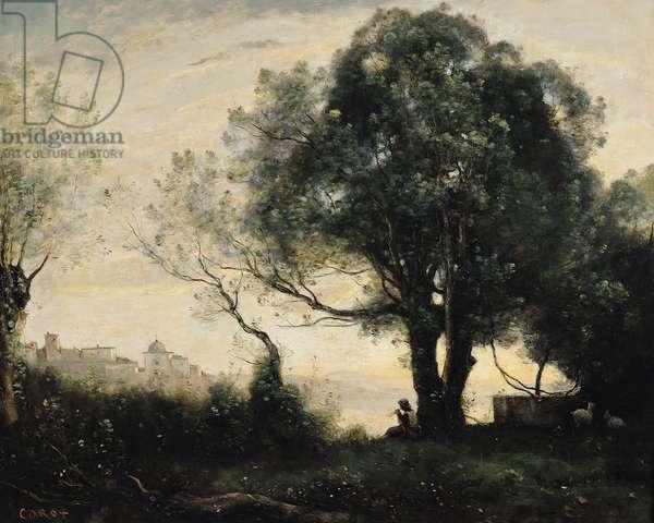 Souvenir of Castel Gandolfo (oil on canvas)