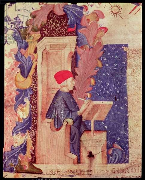 Dante writing 'The Divine Comedy' (vellum)