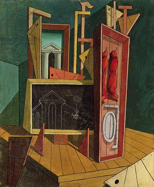 Metaphysical Interior, 1917 (oil on canvas)