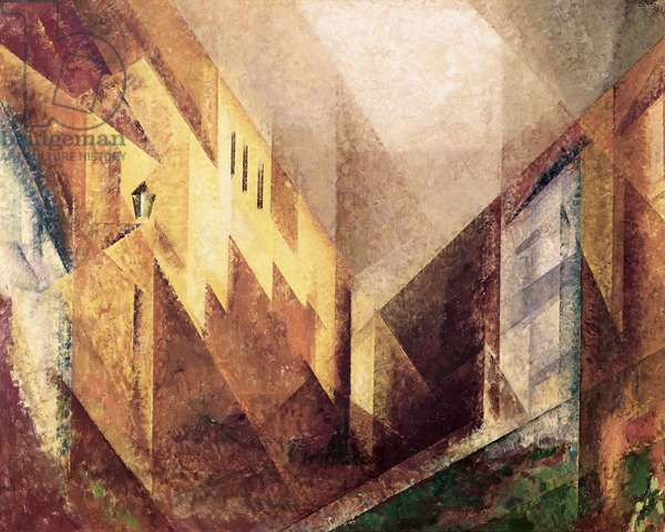 A Street in Treptow. Afternoon Light, 1932 (oil on canvas)