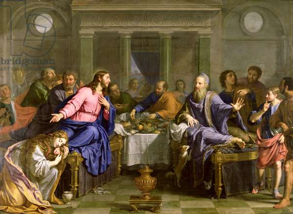 Christ in the House of Simon the Pharisee, c.1656 (oil on canvas)