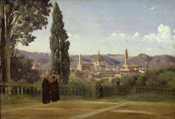 View of Florence from the Boboli Gardens, c.1834-36 (oil on canvas)