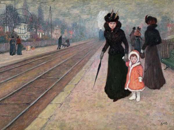 Suburban Station, c.1895 (oil on canvas)