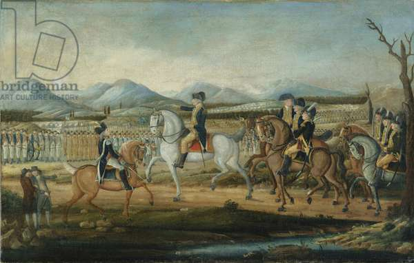 Washington Reviewing the Western Army at Fort Cumberland, Maryland, after 1795 (oil on canvas)