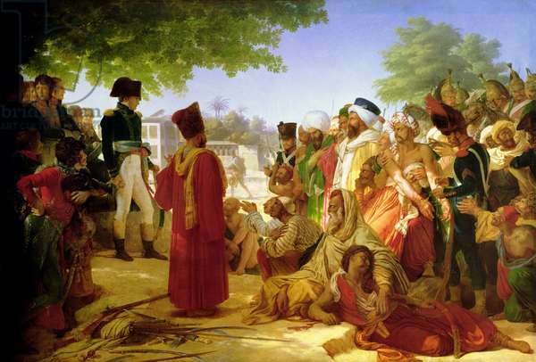 Napoleon Bonaparte (1769-1821) Pardoning the Rebels at Cairo, 23rd October 1798, 1806-08 (oil on canvas)