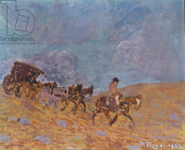The Stage-Coach, 1922 (oil on canvas)