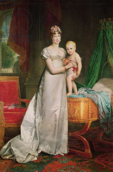 Marie Louise (1791-1847) and the King of Rome (1811-32) (oil on canvas)
