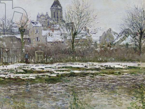 The Church at Vetheuil under Snow, 1878-79 (oil on canvas)