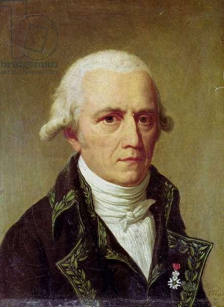 Portrait of Jean-Baptiste de Monet (1744-1829) Chevalier de Lamarck, 1802-03 (oil on canvas)